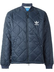 Adidas Originals 'Quilted Superstar' Bomber Jacket Blue