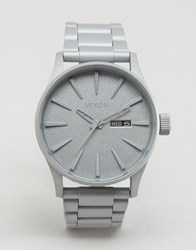 Nixon Primer Sentry Bracelet Watch In Silver White