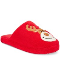 Family Pajamas Men's Reindeer Slippers Only At Macy's Red Reindeer