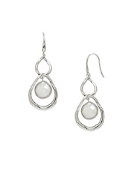 Honora Style Sterling Silver And Freshwater Pearl Coin Earrings Pearl Silver