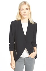 Trouve Women's Trouve Drapey Open Blazer Black