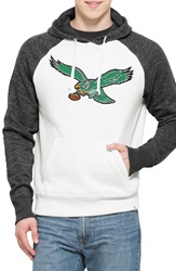 47 Brand 'Philadelphia Eagles Hashmark' Graphic Fleece Hoodie Open White