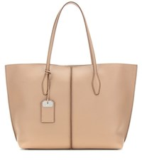 Tod's Joy Large Leather Shopper Brown