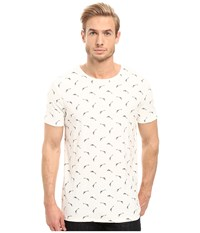 Boss Orange Thien All Over Printed T Shirt White Men's T Shirt
