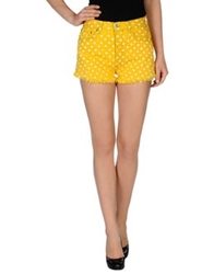 Levi's Red Tab Denim Shorts Yellow