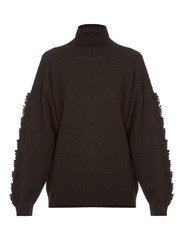 Barrie Troisieme Dimension Roll Neck Cashmere Sweater Black