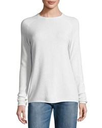 Vince Lightweight Cashmere Rolled Hem Sweater Winter Whi
