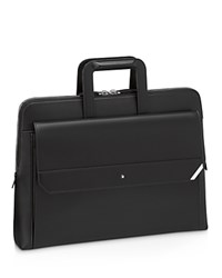 Montblanc Slim Leather Briefcase Black
