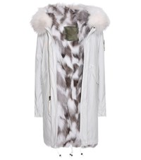 Mr And Mrs Italy Fur Lined Cotton Parka White