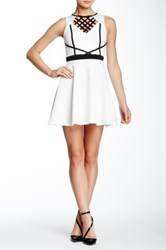 Trixxi Cutout Skater Dress White