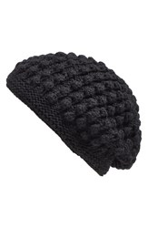 Women's Nirvanna Designs 'Popcorn' Knit Slouch Beanie Black