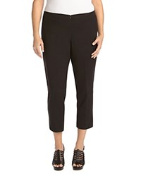 Karen Kane Plus Slim Capri Pants Black