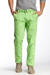 Micros Flux Belted Slim Fit Chino Pant Green