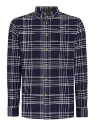 Howick Men's Boston Check Long Sleeved Shirt Navy