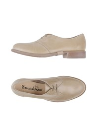 Emanuela Passeri Footwear Lace Up Shoes Women Beige