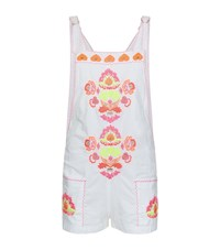 Juliet Dunn Embroidered Dungarees Female Multi