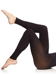 Commando Ultimate Opaque Ruched Footless Tights Black