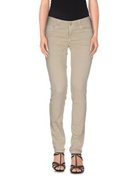 Care Label Denim Denim Trousers Women Beige