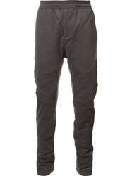 Julius Panelled Tapered Trousers Grey