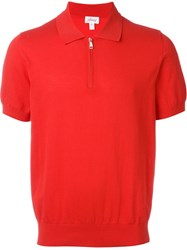 Brioni Elastic Cuff Sleeve T Shirt Red