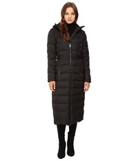 Vince Camuto Long Belted Down L1851 Black Women's Coat