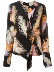 Emilio Pucci Feather Print Blouse Black