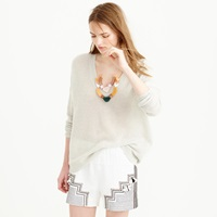 J.Crew Collection Cashmere V Neck Beach Sweater