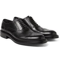 O'keeffe Felix Water Resistant Leather Wingtip Brogues Black