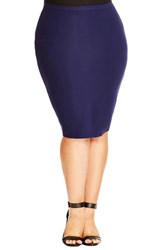 Plus Size Women's City Chic Ponte Knit Tube Skirt