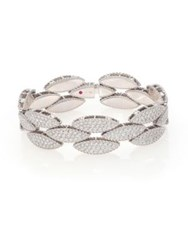 Roberto Coin Retro 18K White Gold And Diamond Bangle Bracelet