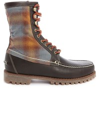 Timberland Pendleton Rugged 8 Inch Fur Lined Brown Leather Boots