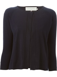 L'autre Chose Cropped Cardigan Blue