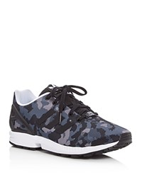 Adidas Zx Flux Lace Up Sneakers Black Camo