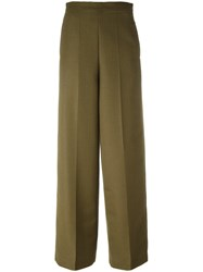 Ports 1961 Tailored Straight Trousers Green
