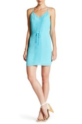 Charlie Jade Embroidered Spaghetti Strap Dress Blue