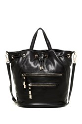 Shiraleah Ashton Vegan Leather Bucket Satchel Black