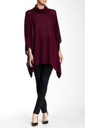 Blvd Cowl Neck Asymmetrical Sweater Red
