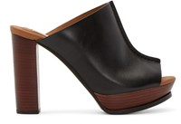 See By Chloe Black Leather Alex Clogs