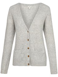 Fat Face Cashmere Chichester Cardigan Grey Marl