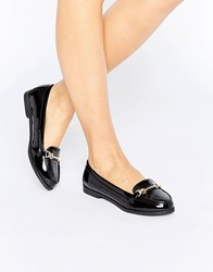 New Look Buckle Patent Loafer Black