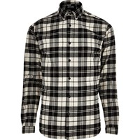 Only And Sons River Island Mens White Casual Check Shirt