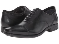 Hush Puppies Evan Maddow Black Leather Men's Lace Up Cap Toe Shoes