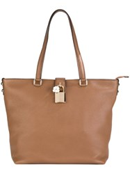 Dolce And Gabbana 'Dolce' Shopper Tote Brown