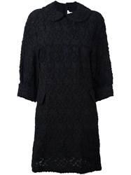 Comme Des Garcons Floral Jacquard Shift Dress Black