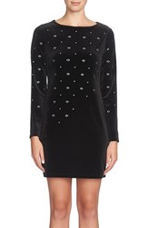 Cynthia Steffe Women's Embellished Velvet Shift Dress