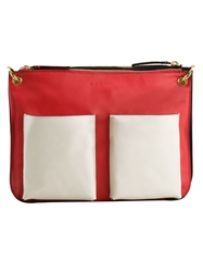 Marni 'Bandoleer' Cross Body Bag Red