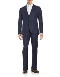 Hugo Wool Pinstriped Suit Blue