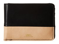 Obey Gentry Deuce Bi Fold Wallet Black Tan Wallet