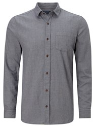 John Lewis And Co. Long Sleeve Mouline Shirt Blue