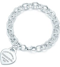 Tiffany And Co. Return To Tiffanytm Heart Tag In Silver With Enamel Finish On A Bracelet
